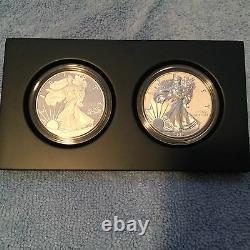 2012 S Us Mint 75e Anniversaire American Eagle Silver Set. Avec Box Et Coa