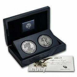 2012 U. S. Mint American Eagle San Francisco Deux Pièces D'argent Reverse & Proof Eg1