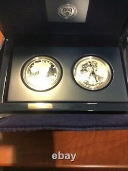 2012 U. S. Mint American Eagle San Francisco Deux Pièces Set Preuve Argent