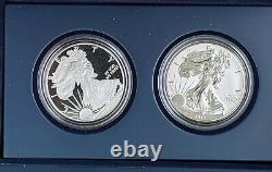 2012-s American Mint Silver Eagle 2-coin Sf Proof/revers Mint Set 75th Anniv Ogp