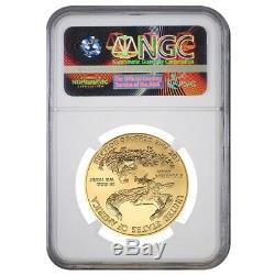 2013 1 Oz $ 50 Or American Eagle Ngc Ms 69 Erreur Monnaie (avers Frappé Thru)