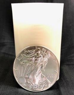 2013 Silver Eagle Rouleau (20 Pièces) 1 Oz Les Pièces Bu En U. S. Mint Tube