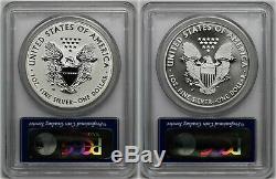 2013-w Silver Eagle Set Pr 70 + Inverse Ms 70 Pcgs West Point Mint First Strike