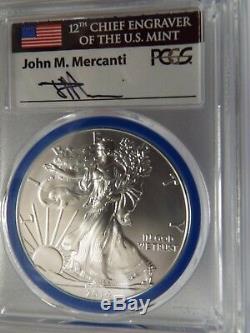 2014/15/16 W 3 Pièces De Monnaie Brunies Silver Eagle Sp70 Mercanti Menthe Graveur