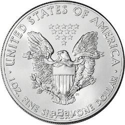 2014 American Eagle Argent (1 Oz) 1 $ 1 Rouleau Twenty 20 Bu Pièces De Monnaie Mint Tube