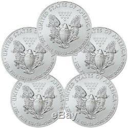 2014 American Eagle Silver Pièce De 1 Once En Argent Avec 5 Pièces De Tube