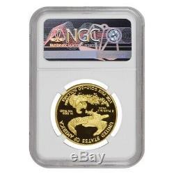 2014 W 50 Oz $ 1 Preuve D'or American Eagle Ngc Pf 69 Ucam Erreur Monnaie Avers Struck