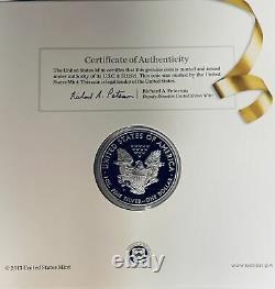 2014-w Félicitations Set Us Mint American Silver Eagle 1 Oz Proof Low Mintage