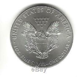 2015 1 Oz Américaine Silver Eagle Coin Lot De 5 Un Troy Onces. 999 Bullion