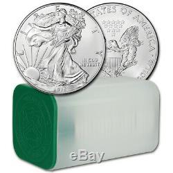 2015 American Eagle Argent (1 Oz) 1 $ 1 Rouleau Twenty 20 Bu Pièces De Monnaie Mint Tube