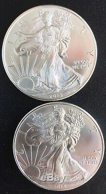2015 Rouleau De 20 American Silver Eagles Gem Bu Menthe Fraîche