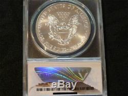 2015 (p) American Eagle Avec 1 Dollar Américain Anacs Ms 70 Frappé À La Menthe De Philadelphie