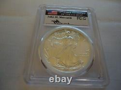 2015(p) American Eagle Silver 1 $, Ms 69 Mercanti Mintgraver Series Pcgs