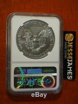 2015 (p) Argent Eagle Ngc Ms69 Edmund Moy Frappé À Philadelphie Monnaie 1 De 79640