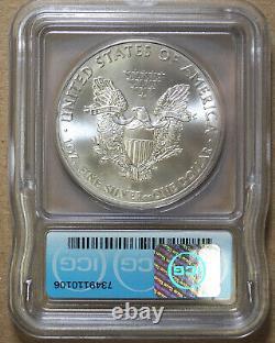 2015-(p) Silver Eagle Icg Ms69 Minted At Philadelphia Scarce