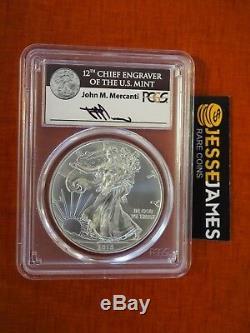 2015 (p) Silver Eagle Pcgs Ms69 Mercanti Frappé À La Menthe De Philadelphie 79 640 Rare