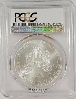 2015-p Silver Eagle Philadelphia Menthe Label Pcgs Ms70 Low Mintage