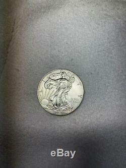 2016 American Eagle Argent (1 Oz) 1 $ 1 Rouleau Twenty 20 Bu Pièces De Monnaie Mint Tube
