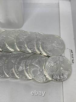 2016 American Silver Eagle 1 Oz. 999 Silver 1 Rouleau De 20 Pièces Bu Dans Mint Tube
