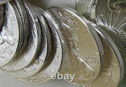 2016 American Silver Eagles Rouleau De 20 1 Oz $ 1 Dollar En Mint Tuyaux