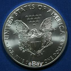 2016 Silver Eagle 1 Oz 20 Rouleau 1 $ Bu Lot De Bullion Coins U. S. Tube En Bon État