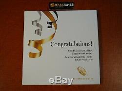 2016 W Proof Silver Eagle Félicitations Set 16rf Dans Son Emballage D'origine