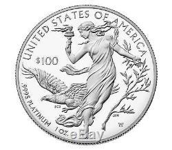 2016-w + 2015-w American Eagle Platinum Coins W Coa Scellé Dans Une Boîte D'expédition Pour La Menthe