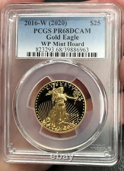 2016-w (2020) 25 $ Gold Eagle Wp Mint Special Enchère Release, Pcgs Dcam, Hoard