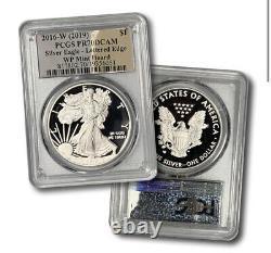 2016-w Proof Silver Eagle Pcgs Pr70 Dcam (west Point Mint Hoard) Feuille D'argent
