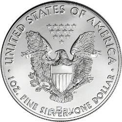 2017 American Eagle Argent (1 Oz) 1 $ 1 Rouleau Twenty 20 Bu Pièces De Monnaie Mint Tube