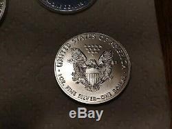 2017 American Eagle Argent (1 Oz) $ 1 1roll. 20 Pièces Bu À La Menthe Tube
