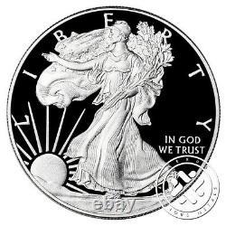 2017 S & W $1 1oz Proof Silver Eagle Pcgs Pr70 Dcam Première Grève 2 Pièces Lot