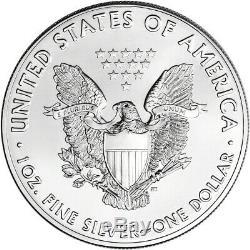 2018 American Eagle Argent (1 Oz) 1 $ 5 100 Rolls Coins Bu Dans 5 Mint Tubes