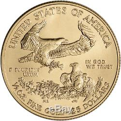 2018 American Eagle Eagle (1/2 Oz), Pièce De 25 Usd En Boîte Cadeau Aux États-unis