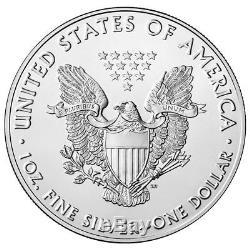 2018 American Eagle Eagle - Rouleau De 20 Unités, 1 Once Scellé Aux Pièces