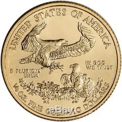 2018 American Gold Eagle (1/4 Oz) 10 $ 1 Rouleau De 40 Pièces De 40 Bu En Tube De Menthe