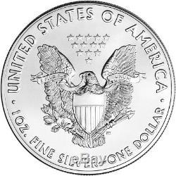 2018 American Silver Eagle (1 Oz) 1 $ 1 Rouleau Twenty 20 Pièces De Bu Dans Un Tube À La Menthe
