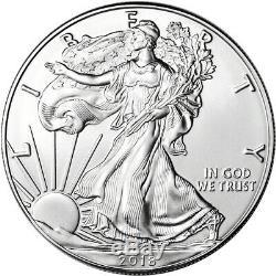 2018 American Silver Eagle (1 Oz) 1 $ 1 Rouleau Twenty 20 Pièces De Bu Dans Un Tube De Menthe