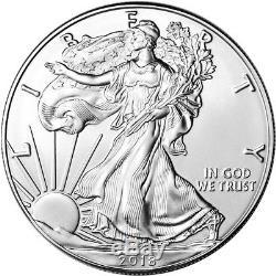 2018 American Silver Eagle (1 Oz) 1 $ 5 Rouleaux De 100 Pièces De Monnaie Dans 5 Tubes De Menthe