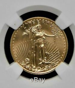 2018 Gold Eagle 10.00 $ Ngc Ms69 Erreur Mint Avers. Frappé Thru Signé Mike Castle