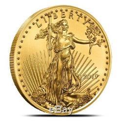2019 1 Once $ 50 Pièce De Monnaie Américaine Eagle Gold Gem Bu Fraîche De Menthe