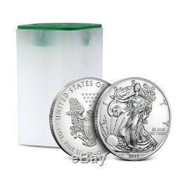 2019 American Eagle De 1 Oz D'argent, Lot De 20 Pièces De Monnaie En Tube Us / Rouleau