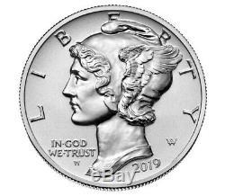 2019 American Eagle Palladium Reverse Proof 1 Oz. Pièce Monnaie Navire Scellé / Assuré