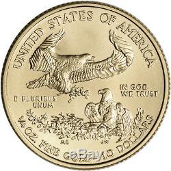 2019 American Gold Eagle 1/4 Oz 10 $ 1 Rouleau De 40 Pièces De 40 Bu Dans Un Tube À La Menthe