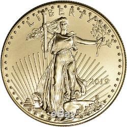 2019 American Gold Eagle Pièce De 1 Oz 50 $ Bu En Boîte-cadeau U. S. Mint
