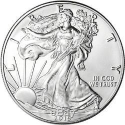 2019 American Silver Eagle 1 Oz $ 1 1 Rouleau Twenty 20 Pièces De Bu Dans Un Tube À La Menthe