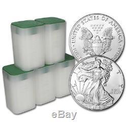 2019 American Silver Eagle 1 Oz $ 1 5 Rouleaux De 100 Pièces De Monnaie Dans 5 Tubes De Menthe