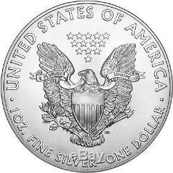 2019 Argent American Eagle Bu 5 Pièces Lot Flips