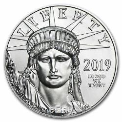 2019 Platinum 100 $ American Eagle Pièce De 1 Once Monnaie Américaine Platinum Eagle Américain