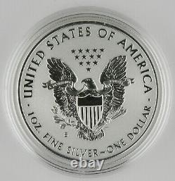 2019 S American Eagle Argent Amélioré Preuve Inverse Pièce De 1 $ + Box & Coa (mint Sf)